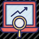 business growth, growth analysis, growth monitoring, seo web analysis icon