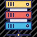 big data, data hosting, data server, data storage icon