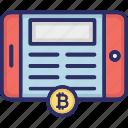 android bitcoin, bitcoin app, bitcoin cryptocurrency, blockchain app icon
