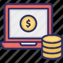 business monetization, data monetization, finance monetization, monetization website icon