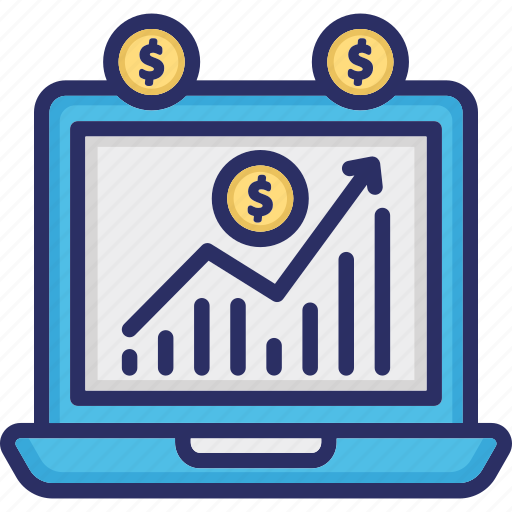 data analytics, financial chart, growth chart, income growth icon