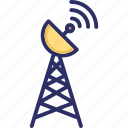 antenna, broadcast tower, communication tower, radar tower icon