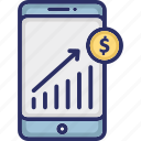 business analytics, business app, business evaluation, business graph icon