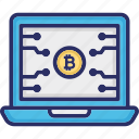bitcoin cryptocurrency, bitcoin website, blockchain web, cryptocurrency web icon