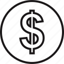 dollar, education, learning, online, pay, school, sign icon