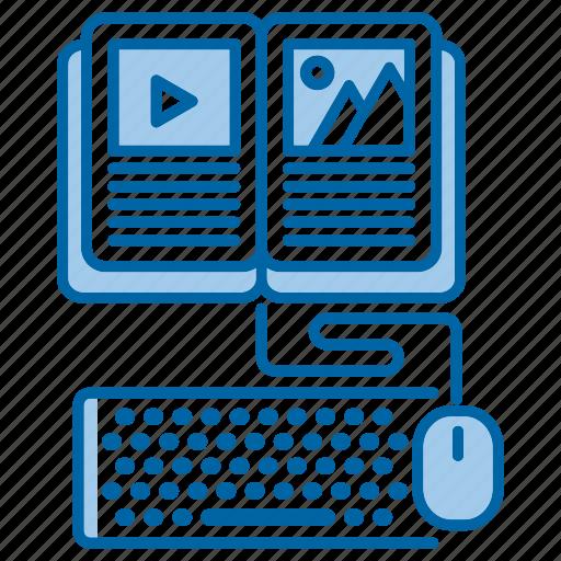 courses, education, knowledge, online, school icon