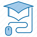school, education, knowledge, graduation, online icon