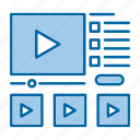 school, knowledge, video, online, tutorials, education icon