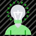 ation, bulb, creative, idea, learn, student icon