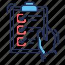 checklist, done, examination, test icon