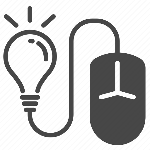 education, elearning, idea, knowledge, mouse, online, study icon