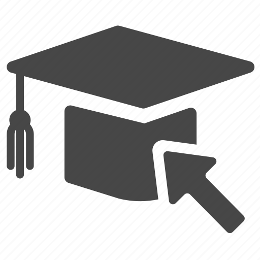 cap, education, graduated, graduation, hat, online, school icon
