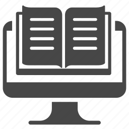 book, ebook, education, learning, online, study icon