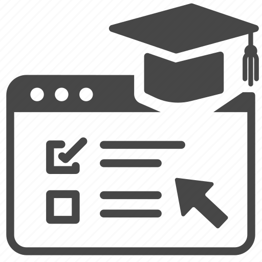 class, course, education, faculty, graduation, online, study icon