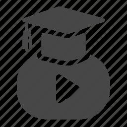 clip, education, graduation, learning, online, school, study icon