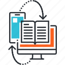 course, e-book, e-learning, education, online, training, tutorial icon