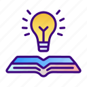 idea, bulb, book, knowledge, ideas, education, online