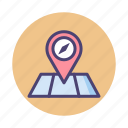 adventure, location, map, point of interest, pointer icon
