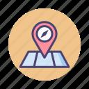 adventure, location, map, point of interest, pointer