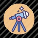 astronomy, stargazing, stars, telescope icon