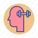 brain, brain training, mind games, training icon