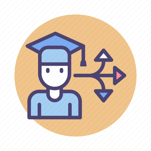 career, career choice, career path, career pathway, choice, pathway icon