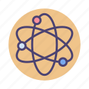 atom, chemistry, science, scientific icon