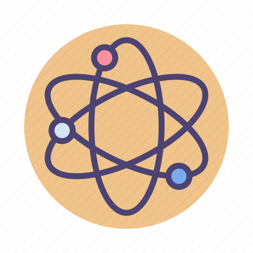 atom, chemistry, science, scientific icon
