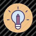 creative, creative teaching, light bulb, teaching icon