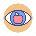 educational, vision, eye, mission icon