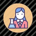 female professor, female scientist, female teacher, female tutor, scientist