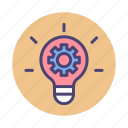 creativity, idea, innovation, light bulb icon