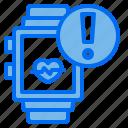 smartwatch, notification, heart, rate, healthcare, medicine