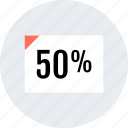 documnet, fifty, interest, page, rate icon