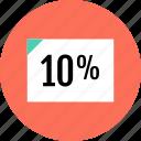 document, interest, page, tenpercent icon