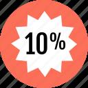 interest, percent, save, savings, ten icon