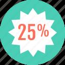 five, percent, save, savings, twenty icon