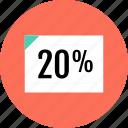 data, document, page, percent, twenty icon