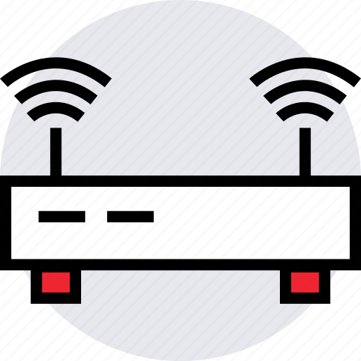 activity, antenna, double, internet, online, router icon