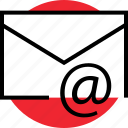 activity, at, email, internet, mail, online, sign icon