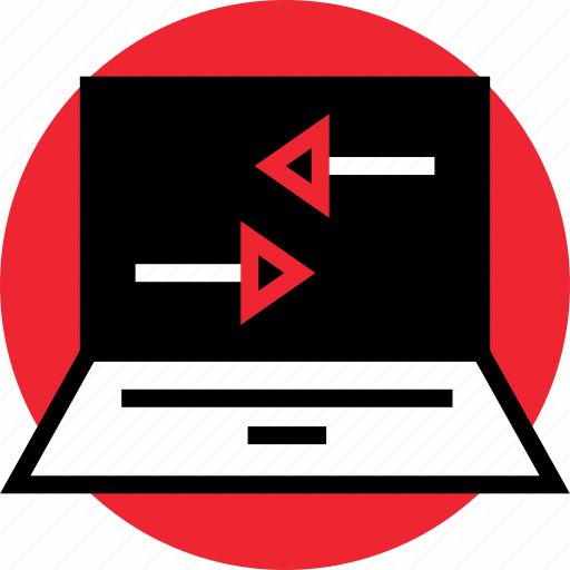 activity, internet, laptop, left, online, right icon