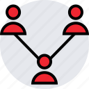 activity, internet, online, three, users icon