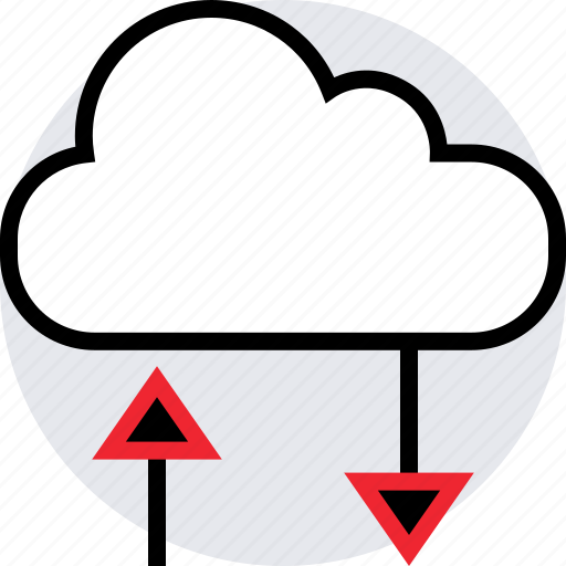 activity, cloud, down, internet, online, up, weather icon