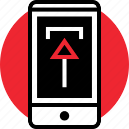 activity, arrow, cell, internet, online, up, upload icon