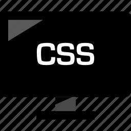 css, development, monitor, online, web icon