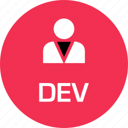 dev, development, online, web icon