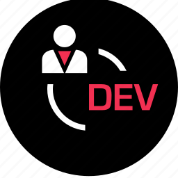 dev, development, online, technology, web icon