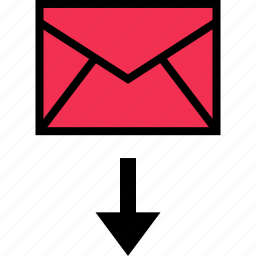 development, download, email, online, web icon