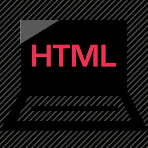 development, html, laptop, online, web icon