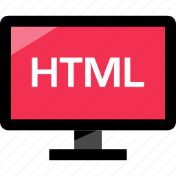 html, monitor, online, web icon